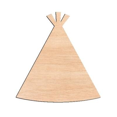 Teepee - Raw Wood Cutout