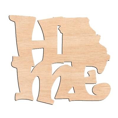 Missouri State - Raw Wood Cutout