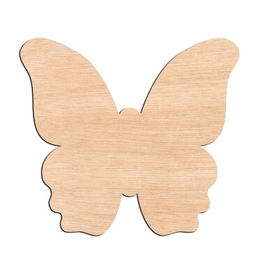 Butterfly Style #2 - Raw Wood Cutout