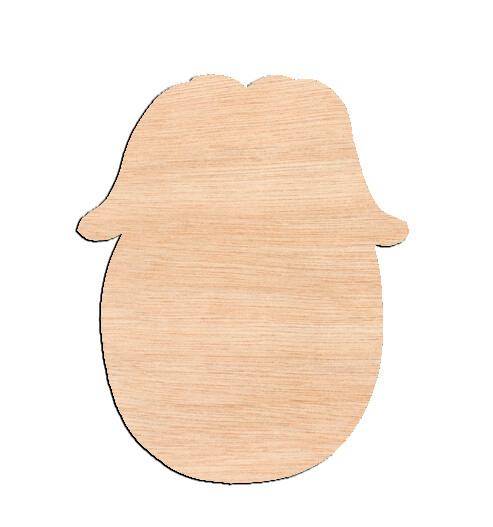 Bunny In Cracked Egg - Raw Wood Cutout