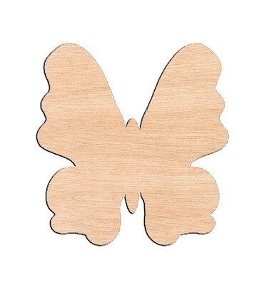 Butterfly Style #1 - Raw Wood Cutout