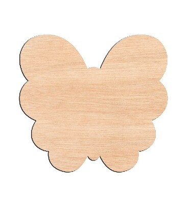 Butterfly Style #3 - Raw Wood Cutout