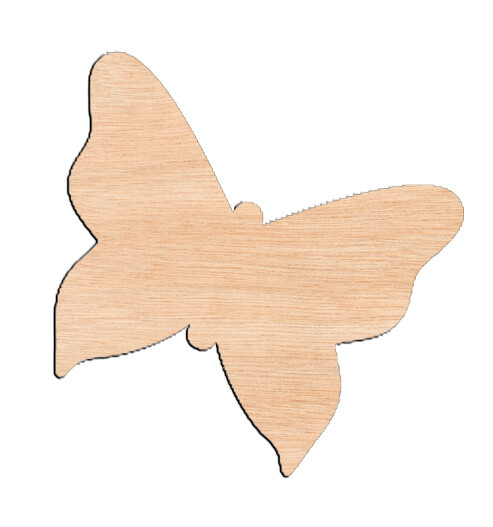 Butterfly Style #4 - Raw Wood Cutout