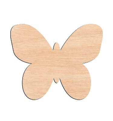 Butterfly Style #6 - Raw Wood Cutout