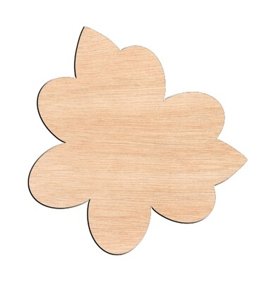 Flower Style #4 - Raw Wood Cutout