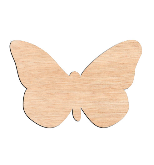 Butterfly Style #5 - Raw Wood Cutout