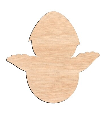 Chick in Easter Egg - Raw Wood Cutout