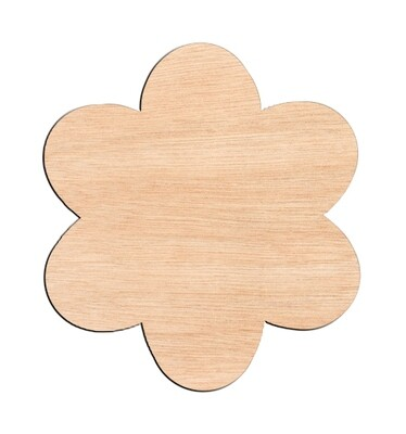 Flower Style #5 - Raw Wood Cutout