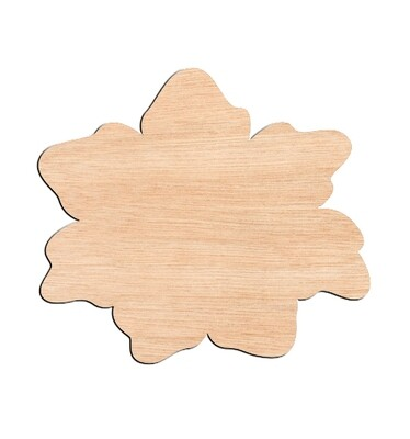 Flower Style #6 - Raw Wood Cutout