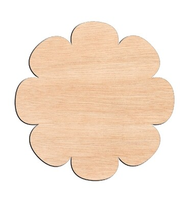 Flower Style #1 - Raw Wood Cutout
