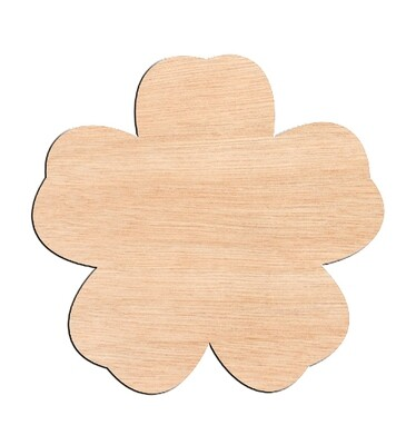 Flower Style #2 - Raw Wood Cutout