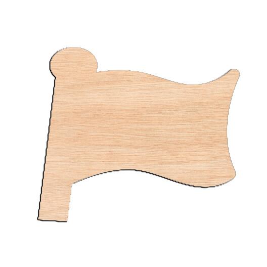 Flag - Raw Wood Cutout