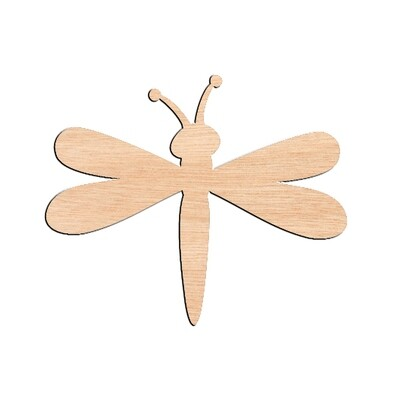 Dragonfly - Raw Wood Cutout