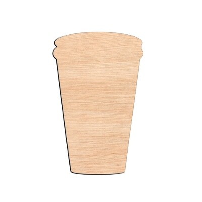 Coffee Cup - Raw Wood Cutout