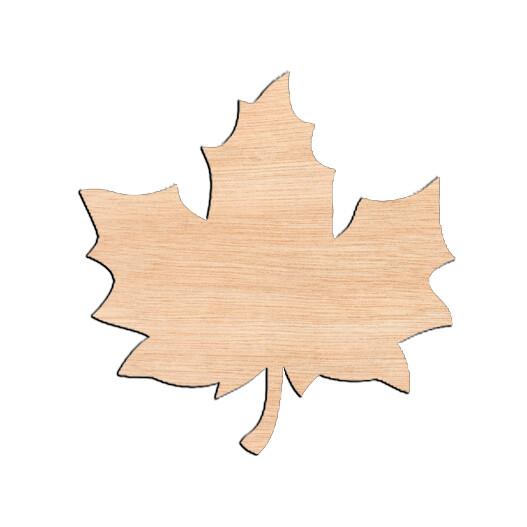 Fall Leaf - Raw Wood Cutout