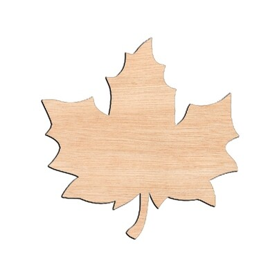 Fall Leaf - Raw Wood Cutout