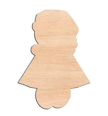 Gingerbread Girl - Raw Wood Cutout