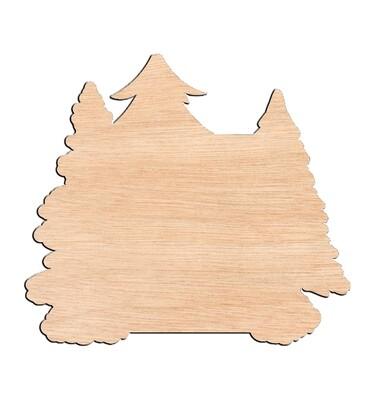 Log Cabin - Raw Wood Cutout