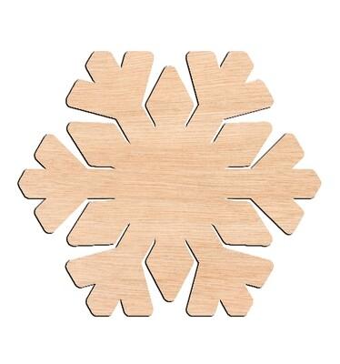 Snowflake - Raw Wood Cutout