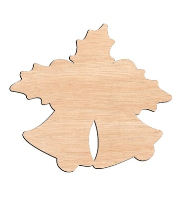 Christmas Bells - Raw Wood Cutout
