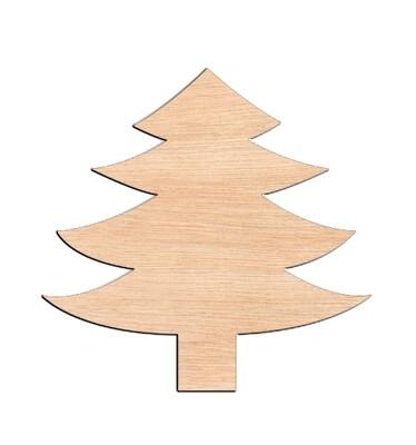 Pine Tree - Raw Wood Cutout