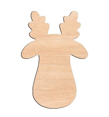 Rudolph - Raw Wood Cutout