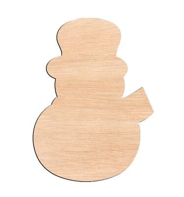 Snowman - Raw Wood Cutout