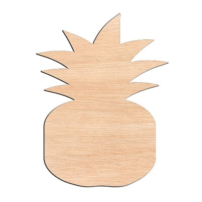 Pineapple - Raw Wood Cutout