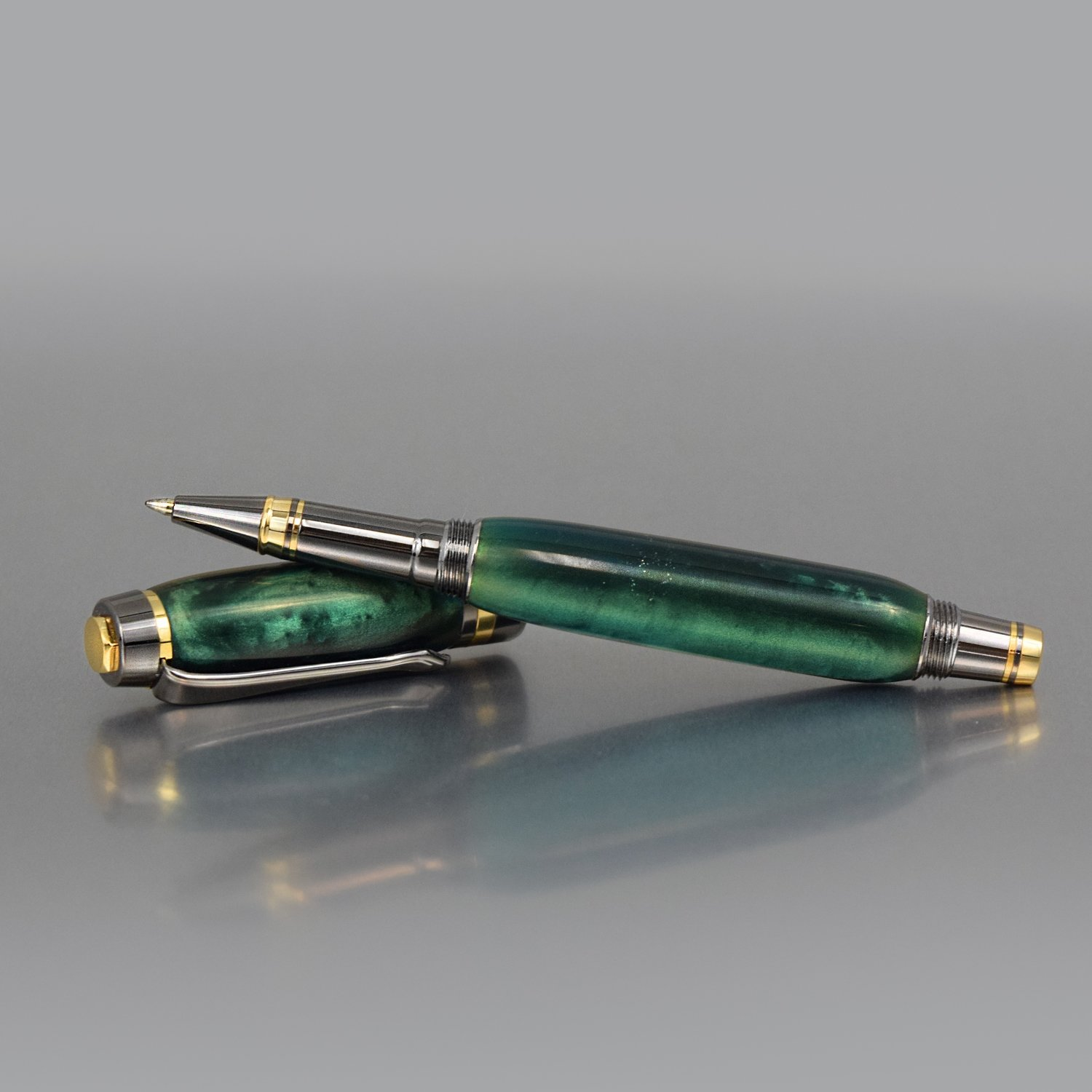 Executive Rollerball Pen - Emerald Acrylic