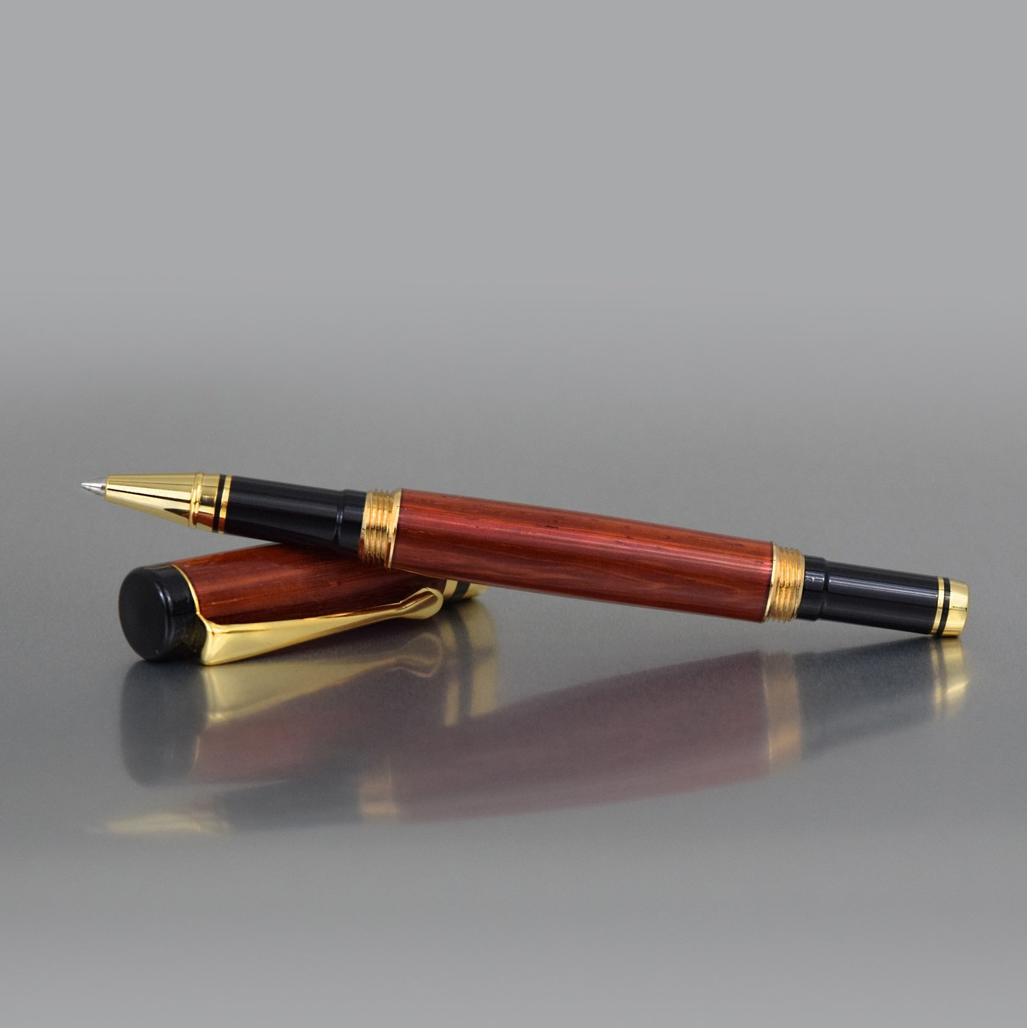 Executive Rollerball Pen - Padauk Wood