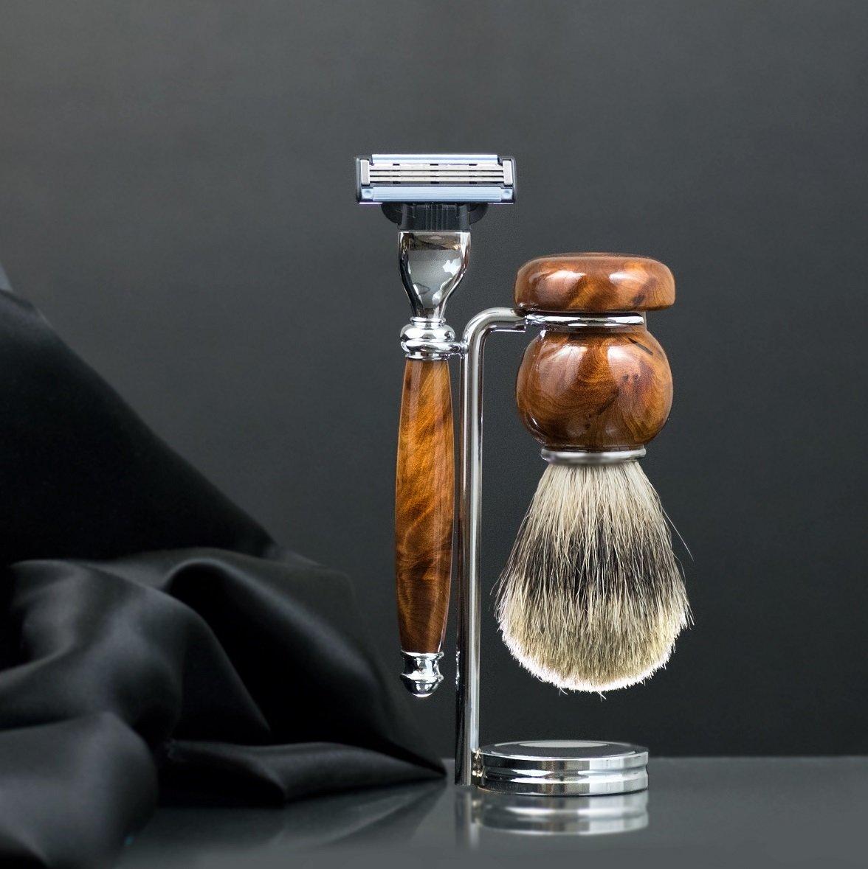 Men's Shaving Set - Chrome Stand
