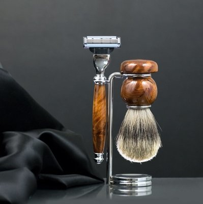 Men's Shaving Set - Chrome Stand