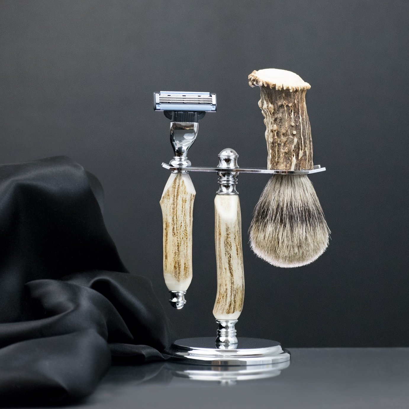 Men's Shaving Set - Deer Antler