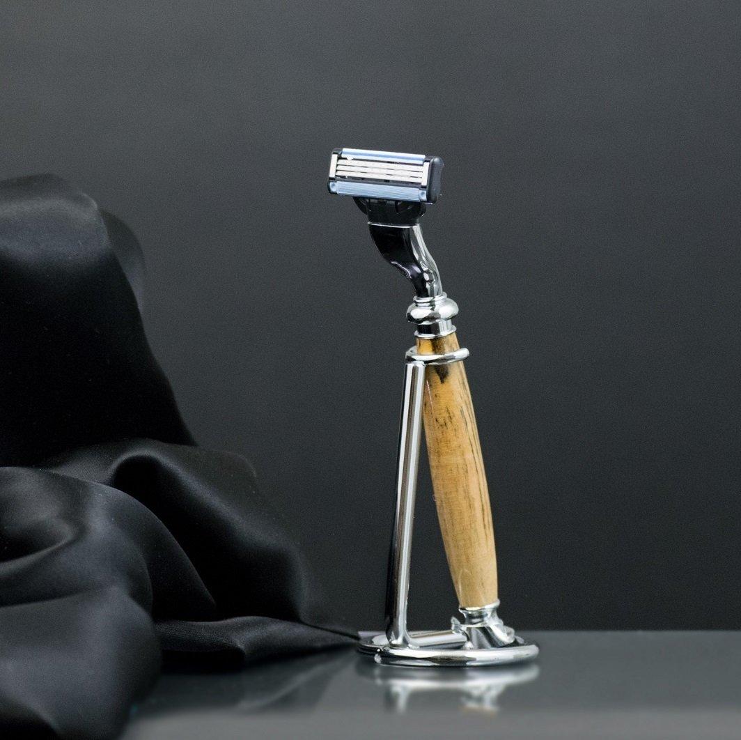 Men's Shaving Set - Single Chrome Stand