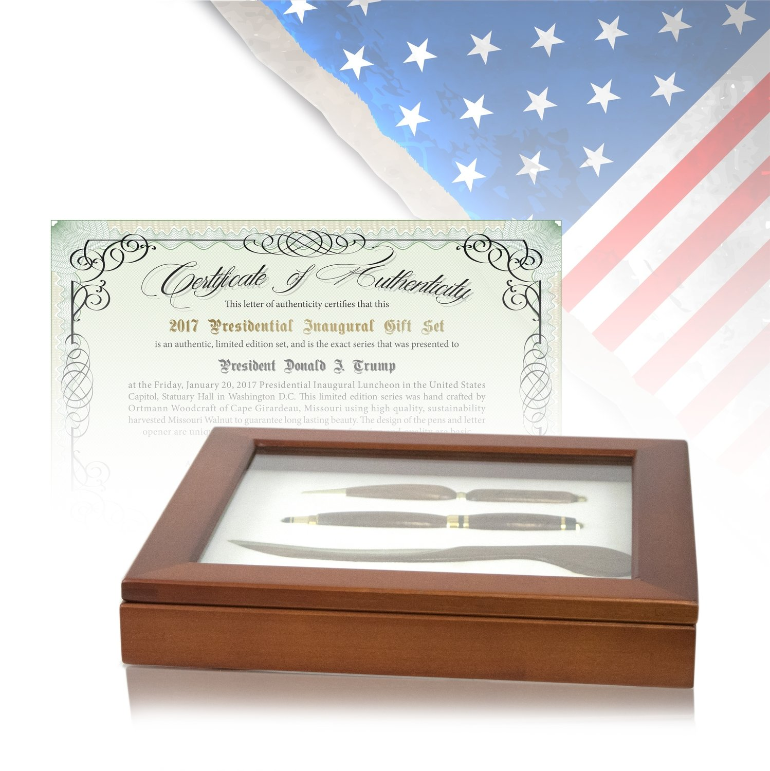 Limited Edition, Official Presidential Inauguration Gift Set 2017 - Serial Numbers 011-049
