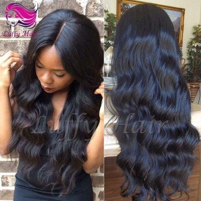 8A Virgin Human Hair Natural Wave Wig - KWL044