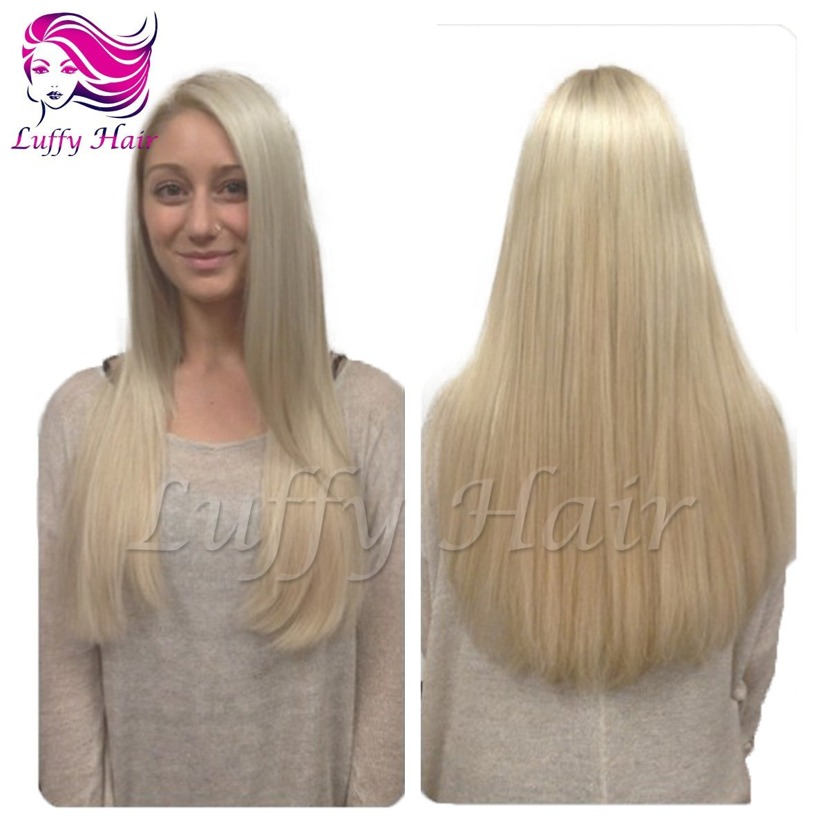 10A Virgin Human Hair Color #613 Silky Straight Wig - KWL043