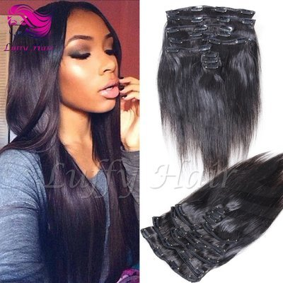 8A Virgin Human Hair Silky Straight Clip In Hair Extensions - KIL004