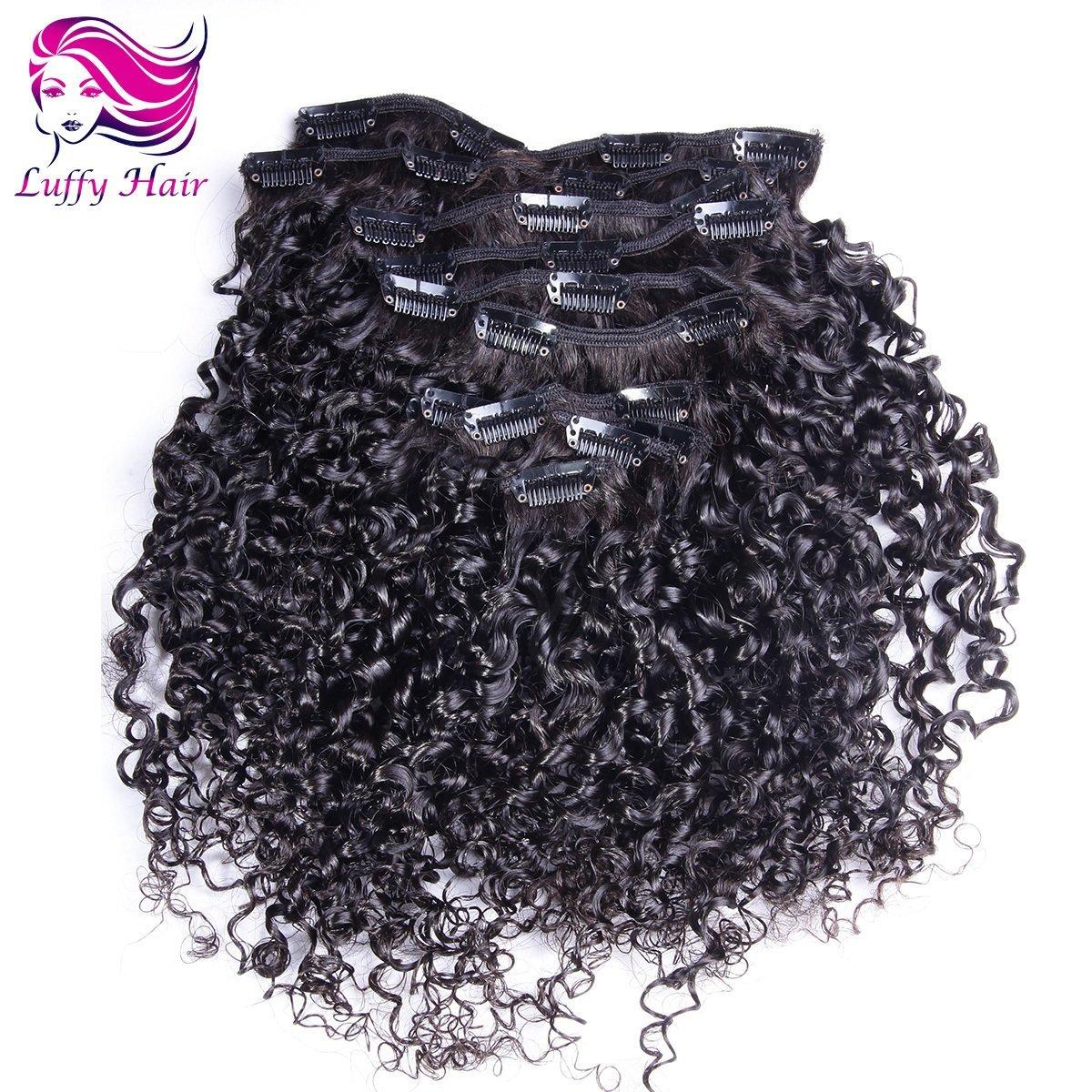 8A Virgin Human Hair Tight Curly Clip In Hair Extensions - KIL008