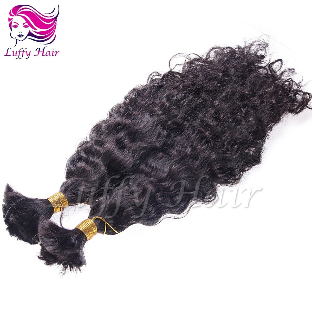 8A Virgin Human Hair Natural Wave Braiding Hair Bulk - KBL004