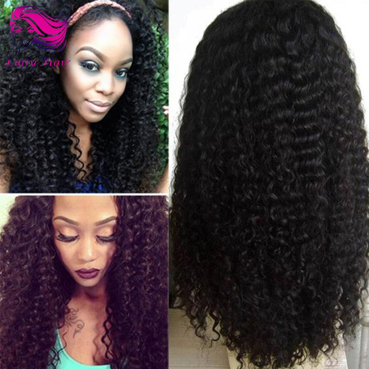 8A Virgin Human Hair Kinky Curly Wig - KWL014