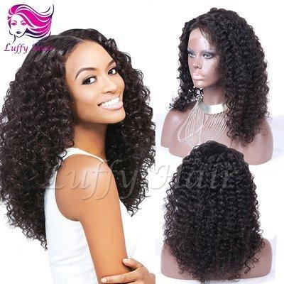 8A Virgin Human Hair Kinky Curly Wig - KWL071