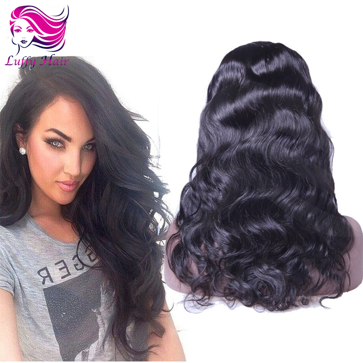 8A Virgin Human Hair Natural Wave Wig - KWL044C