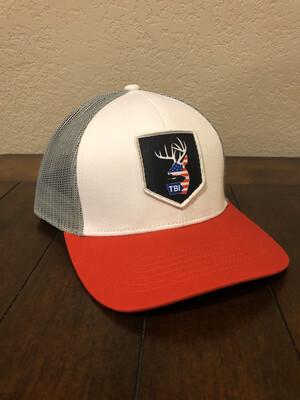 TBI USA Arrow Patch - White/Red/Grey