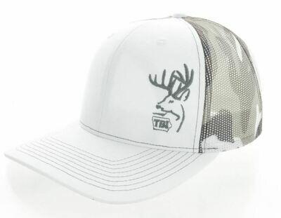 White / Snow Camo TBI Hat