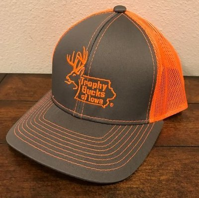 Blaze Orange / Grey TBI Hat