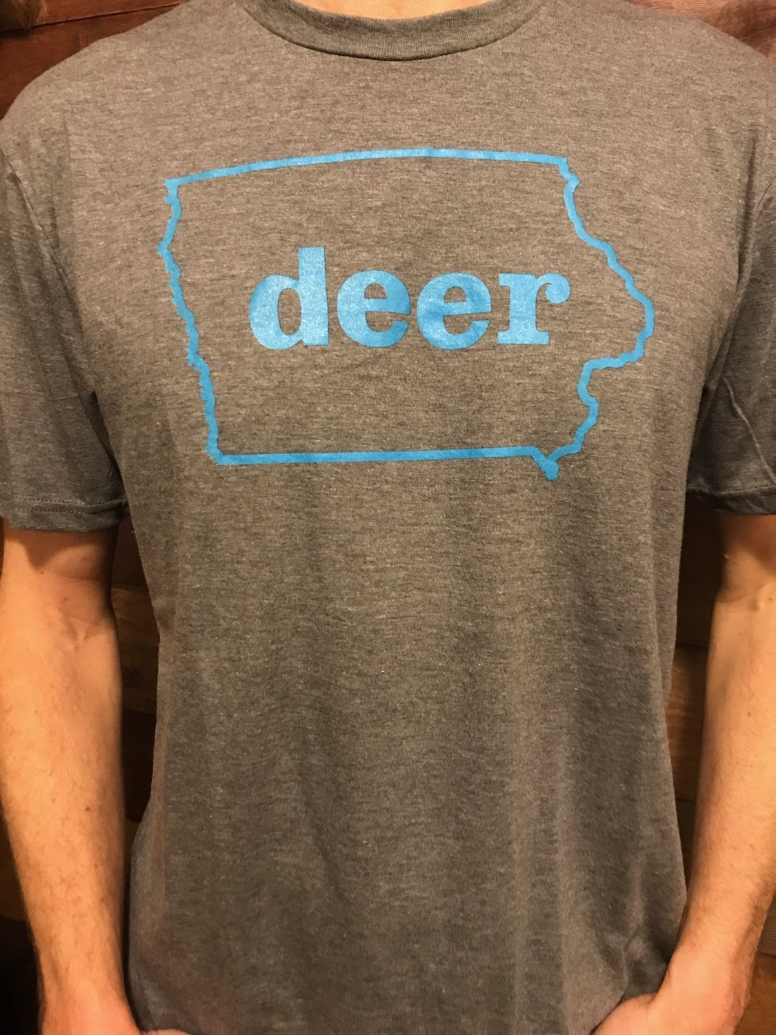 TBI Deer Shirt Grey / Blue
