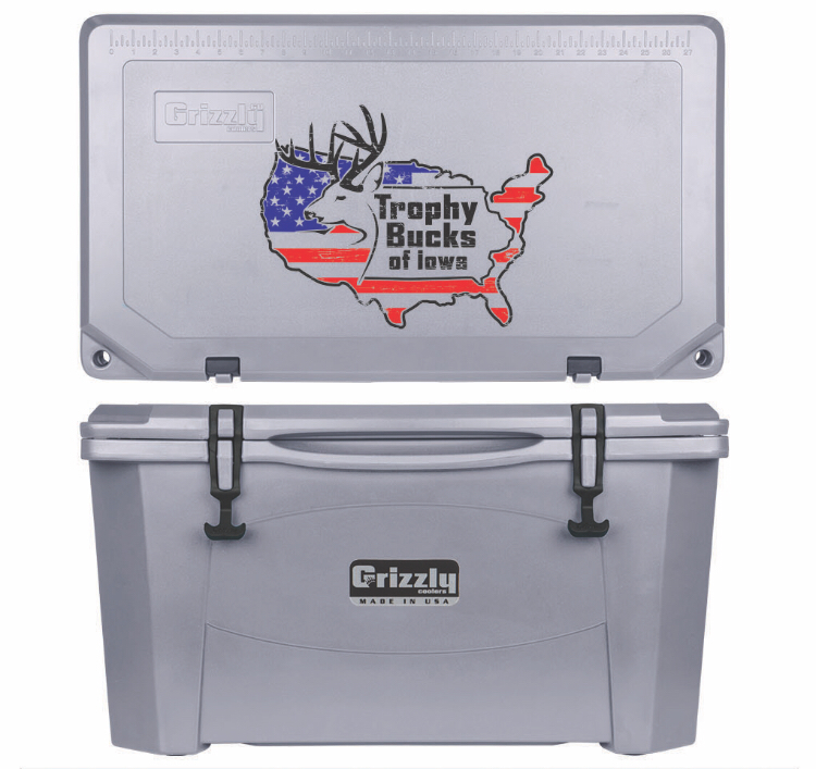 Grizzly G60 (60 quart) TBI USA Logo Gray