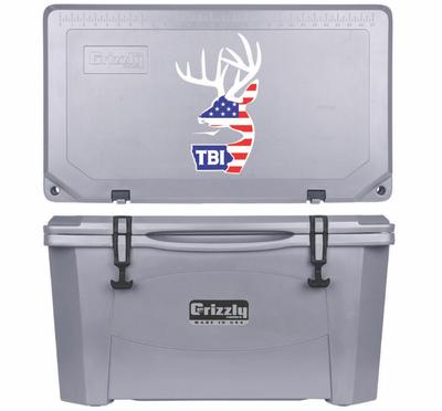 Grizzly G60 (60 quart) TBI USA Alt Logo Gray