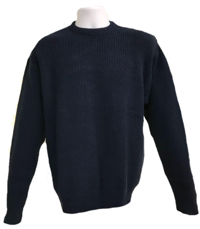 Navy Shaker Pullover